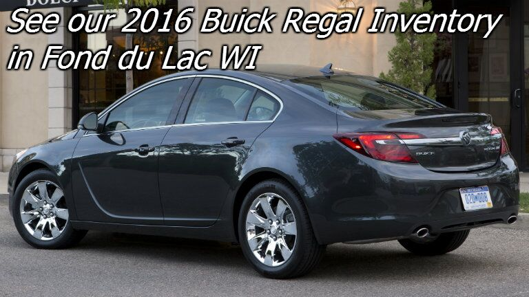 new 2016 buick regal for sale in fond du lac wi