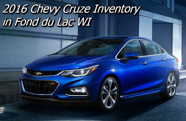 new chevy cruze inventory in fond du lac