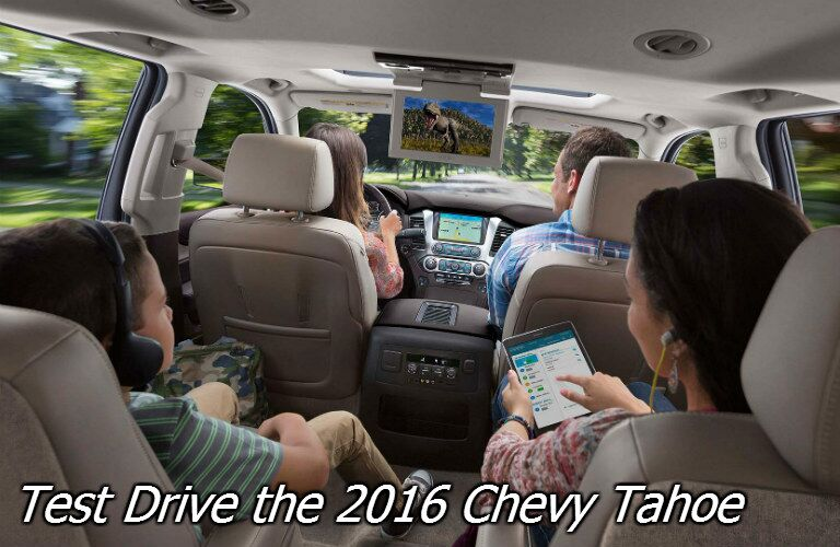 test drive the 2016 chevy tahoe in fond du lac