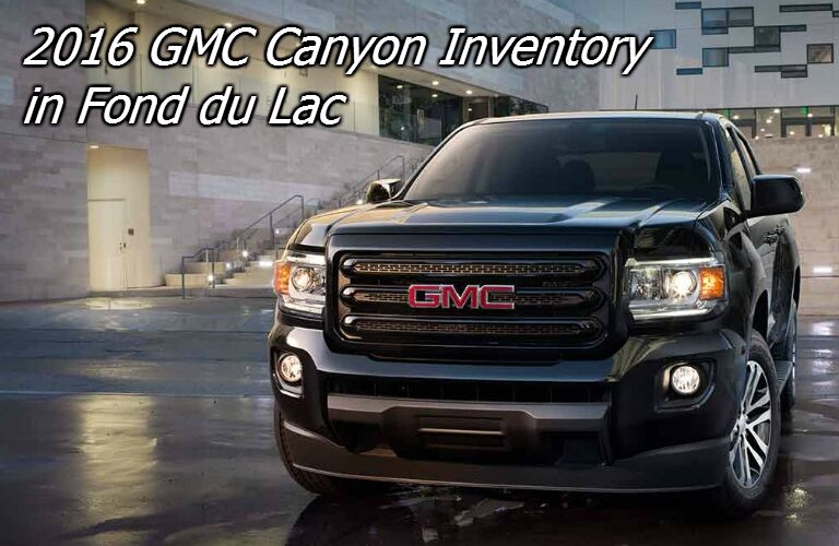 new gmc canyon inventory in fond du lac wi