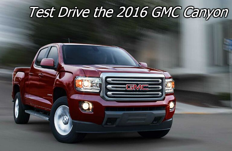 where can I test drive the new gmc canyon?