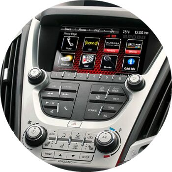 does the gmc terrain have a touch screen?