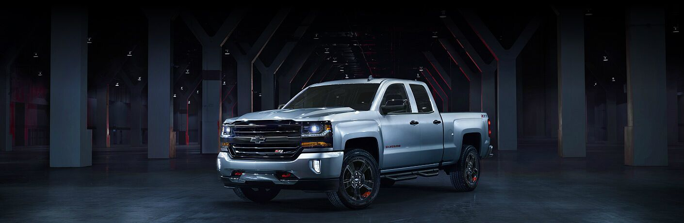 2018 Chevy Silverado 1500 redline white side view