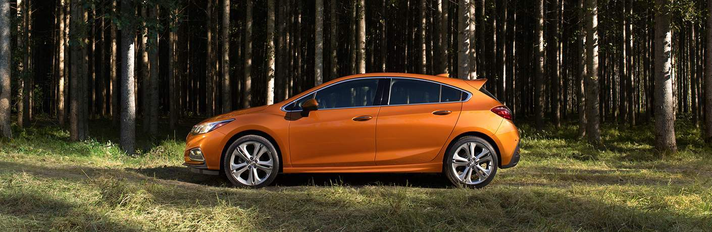 2018 Chevy Cruze hatchback orange side view