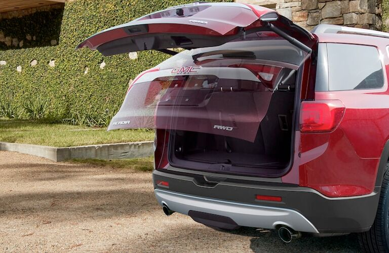 2018 GMC Acadia red power liftgate