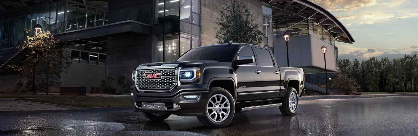 2018 GMC Sierra 1500 black side view