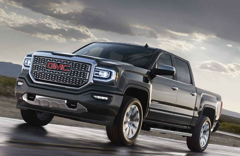 2018 GMC Sierra 1500 Denali black side view