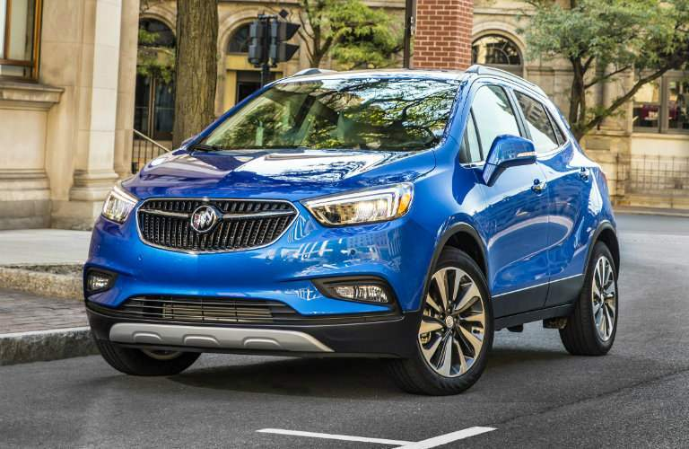 2018 Buick Encore front view blue