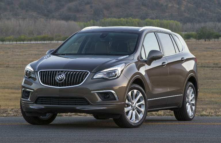 2018 Buick Envision tan side view