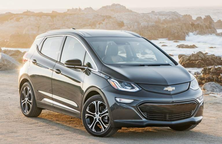 2018 Chevy Bolt EV black side view