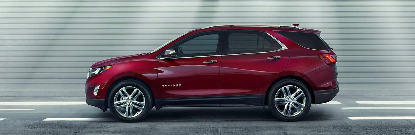 2018 Chevy Equinox side view red