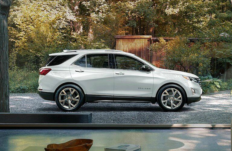 2018 Chevy Equinox white side view