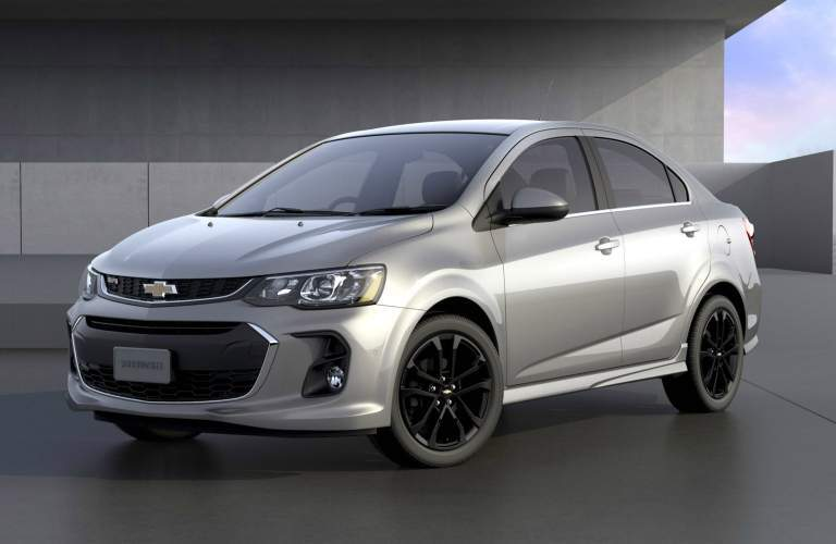 2018 Chevy Sonic silver side view