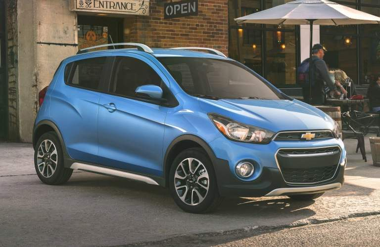 2018 Chevy Spark blue side view