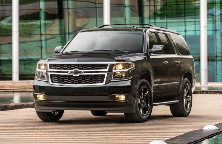 2018 Chevy Suburban black side view