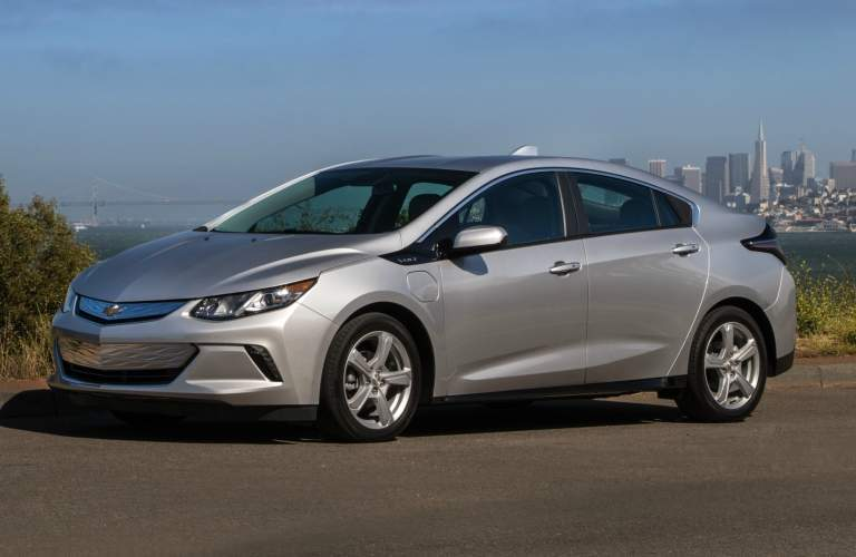 2018 Chevy Volt silver side view