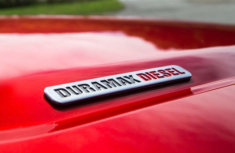 2018 GMC Canyon Duramax diesel emblem
