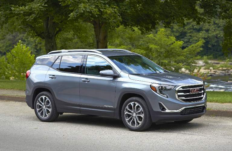 2018 GMC Terrain gray side view