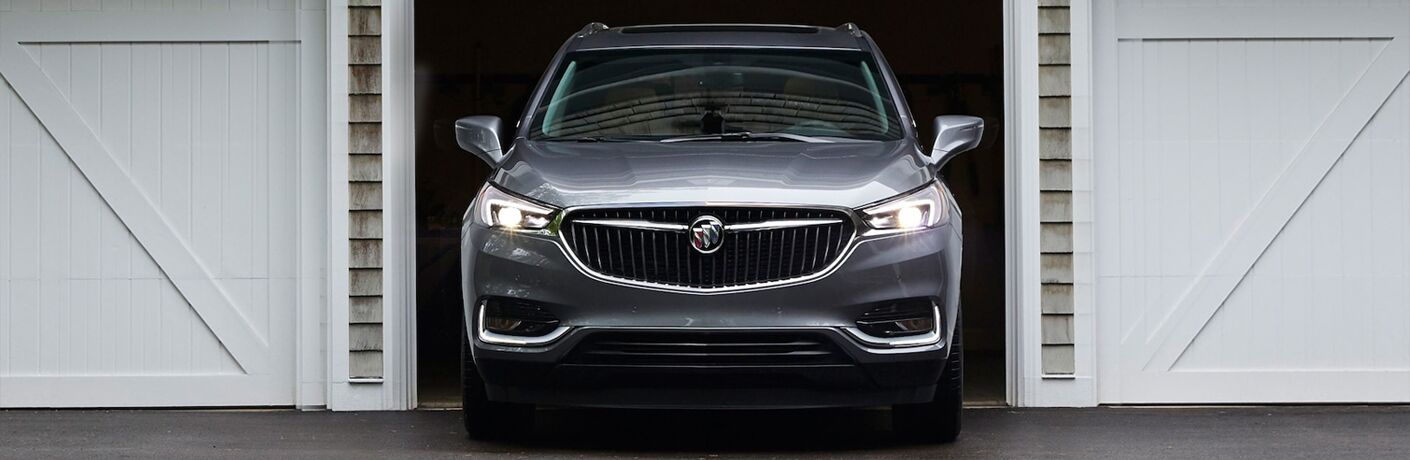 2019 Buick Enclave silver front view