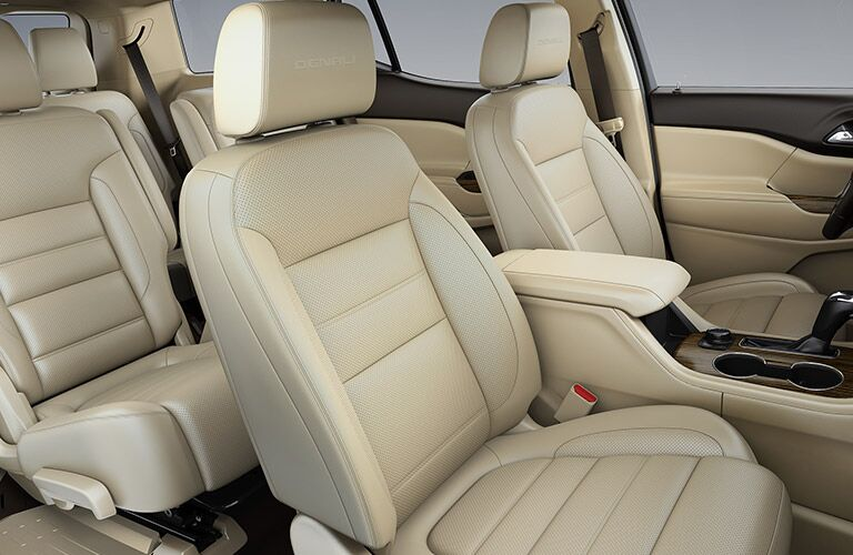 2019 GMC Acadia tan leather seats