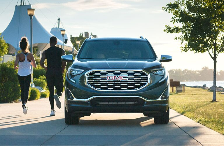 2019 GMC Terrain black front view with grille