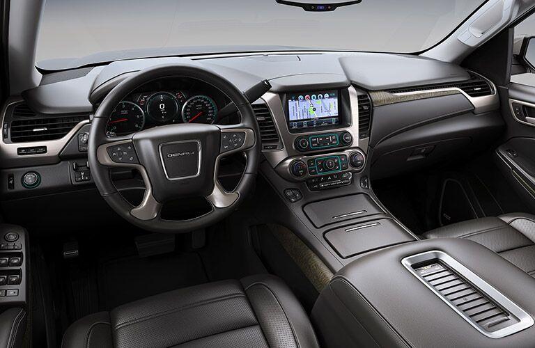 2019 GMC Yukon front seat black leather