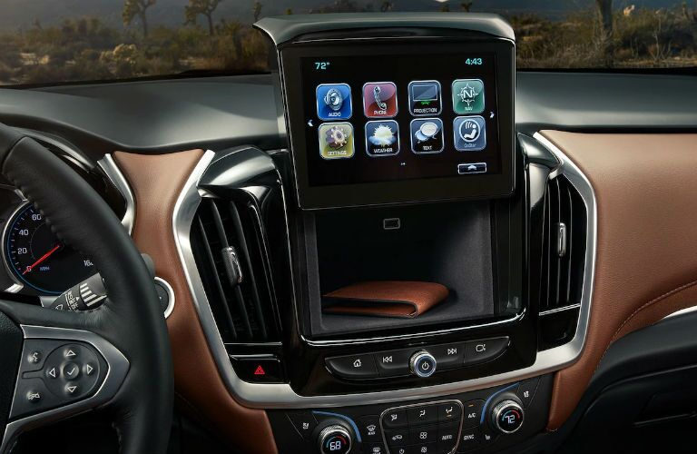 2019 Chevy Traverse infotainment screen folded up