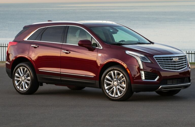 2019 Cadillac XT5 red side view