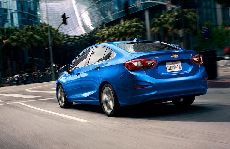 2019 Chevy Cruze diesel blue back view