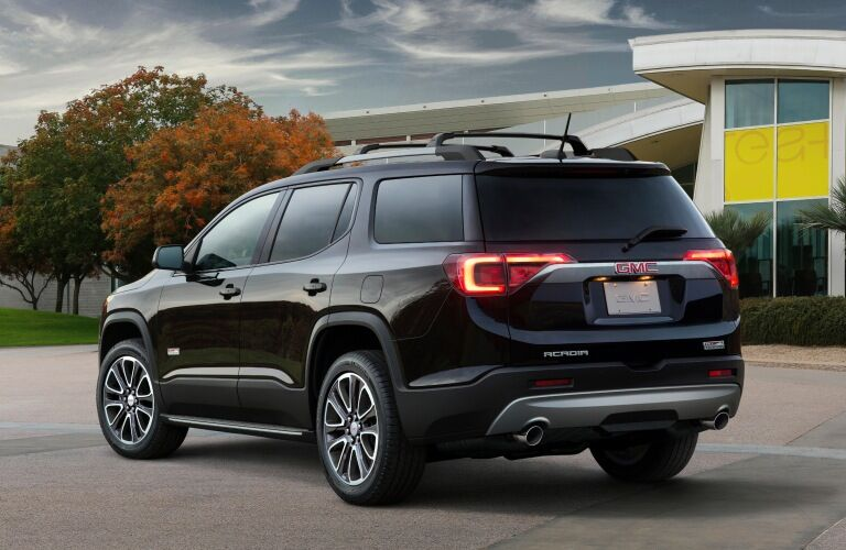 2019 GMC Acadia black back view