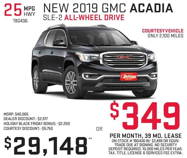 Lease a new GMC Acadia for as low as $349 per month