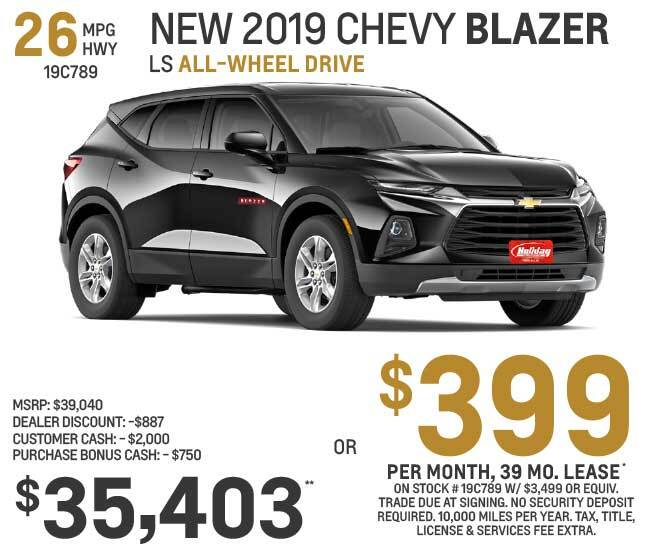Lease a new Chevy Blazer for as low as $399 per month