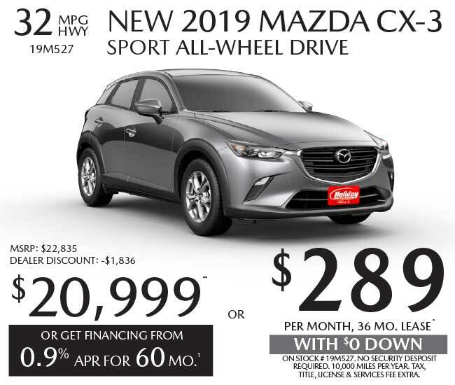 Lease a new Mazda CX-3 for as low as $289 per month