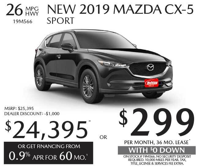 Lease a new Mazda CX-5 for as low as $299 per month