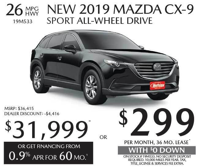 Lease a new Mazda CX-9 for as low as $299 per month