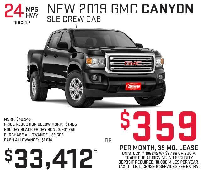 Lease a new GMC Canyon for as low as $359 per month