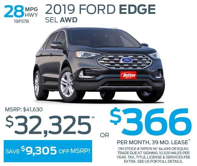 Lease a new Ford Edge for as low as $366 per month