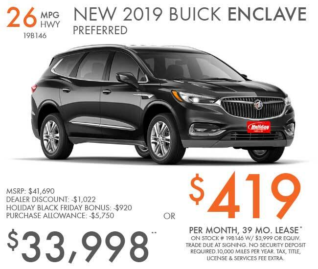 Lease a new Buick Enclave for as low as $419 per month