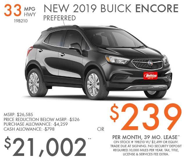 Lease a new Buick Encore for as low as $239 per month