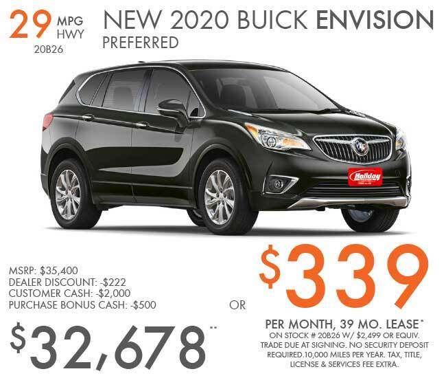 Lease a new Buick Envision for as low as $339 per month