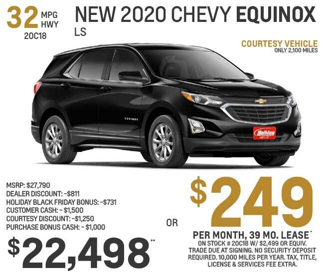 Lease a new Chevy Equinox for as low as $249 per month