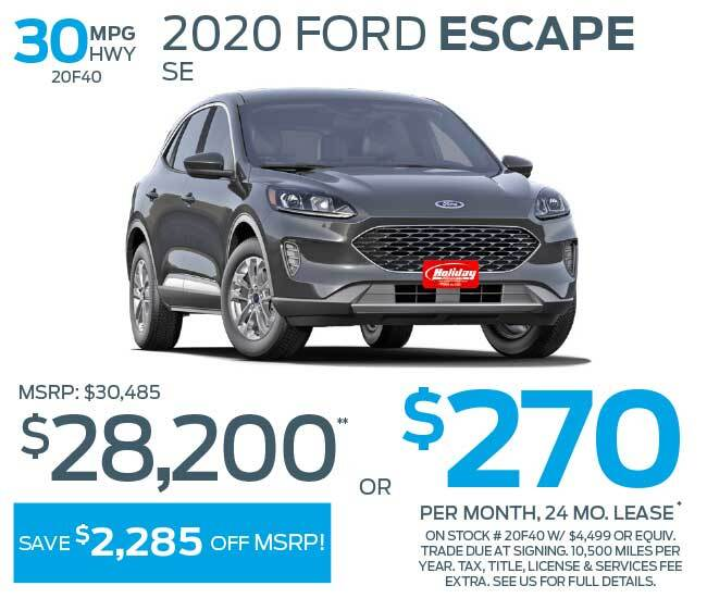 Lease a new Ford Escape for as low as $270 per month