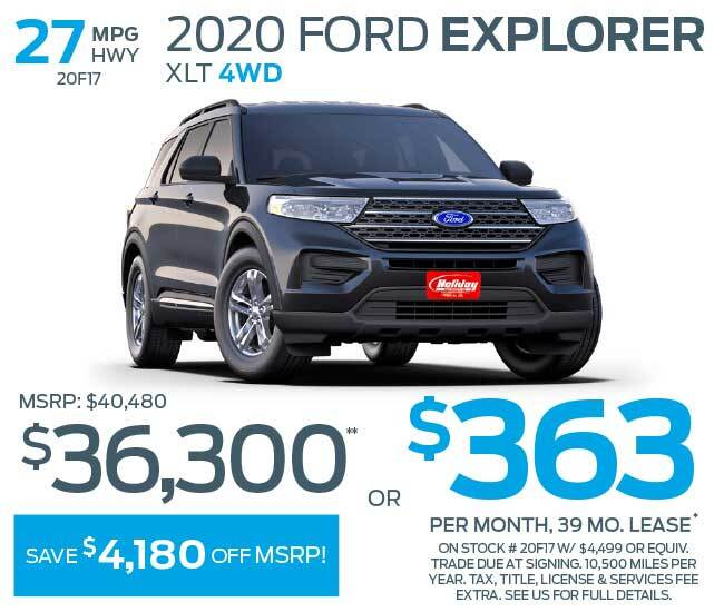 Lease a new Ford Explorer for as low as $363 per month