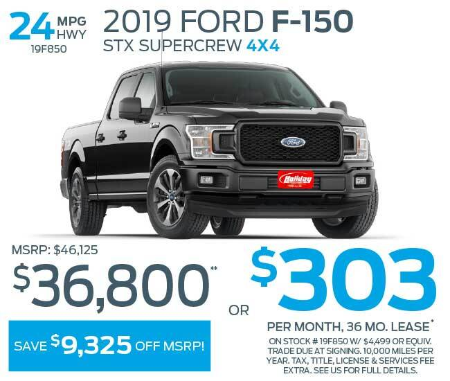 Lease a new Ford F150 for as low as $303 per month