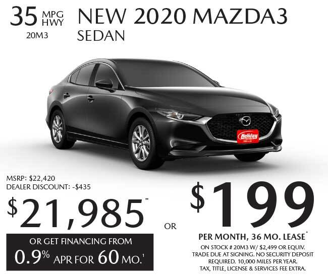 Lease a new Mazda Mazda3 for as low as $199 per month