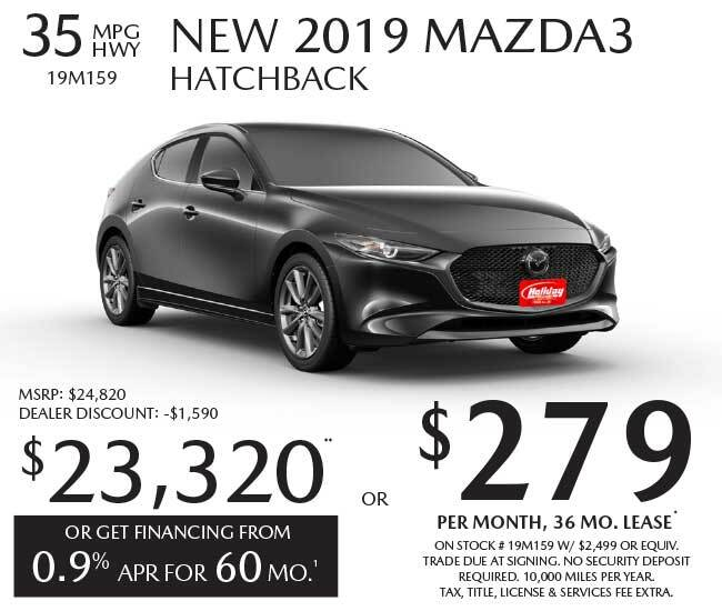 Lease a new Mazda Mazda3 Hatchback for as low as $279 per month