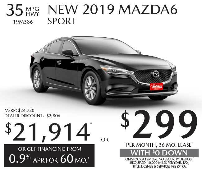 Lease a new Mazda Mazda6 for as low as $299 per month