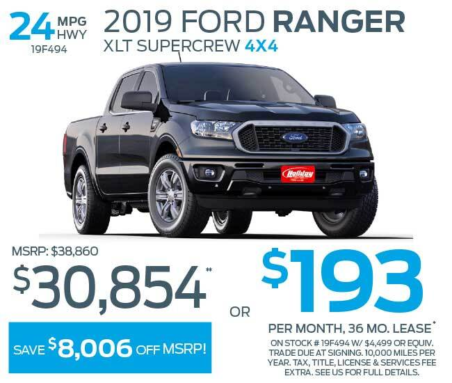 Lease a new Ford Ranger for as low as $193 per month