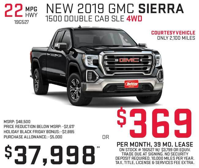 Lease a new GMC Sierra for as low as $369 per month
