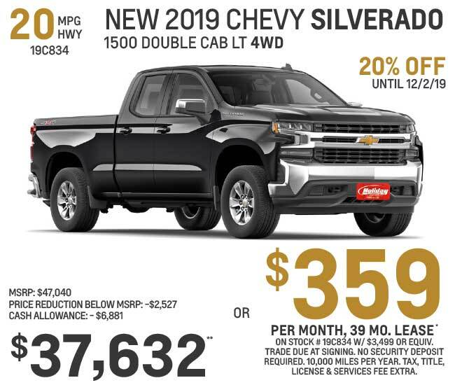 Lease a new Chevy Silverado for as low as $359 per month